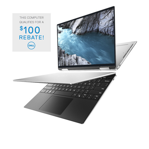 Dell XPS 13 9310 2-in-1 Computer Config 2 Touch Platinum Silver 13.4in UHD+ 3 Yr Premium Onsite Warranty + Accidental Damage 2nd 2020 i7-1165G7/16/512GB