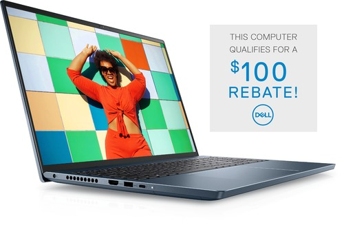 Dell Inspiron 16 Plus Laptop Computer Config 1 Non-Touch - i5-11400H-8-256GB Mist Blue 16in 16:10 3K 1 Year Onsite Warranty BTS 2021