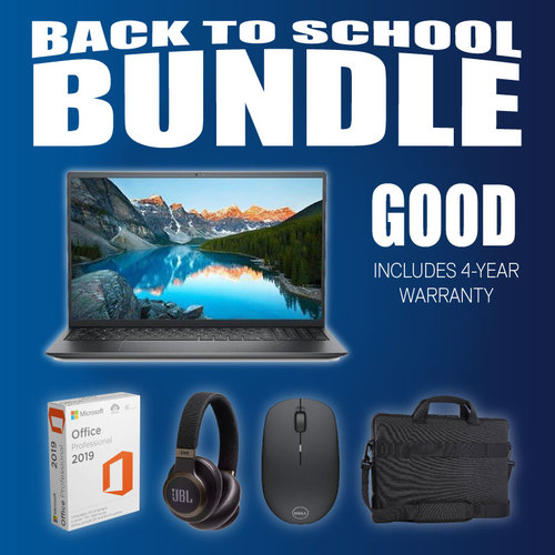 Good! Back-To-School Bundle - Dell Inspiron 15 5000 i5/8GB/256GB (4-Year Warranty)