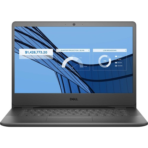 "Dell Vostro 14 3000 3400 14"" Notebook - Full HD - 1920 x 1080 - Intel Core i5 (11th Gen) i5-1135G7 Quad-core (4 Core) 2.40 GHz - 8 GB RAM - 1 TB HDD - 256 GB SSD - Black Accent"