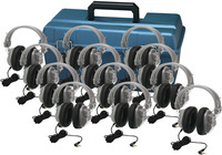 Lab Pack, 12 HA7 Deluxe Headphones in a Carry Case