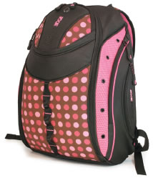 """Mobile Edge Women's Express Backpack Pink Circle 15.4"""""""