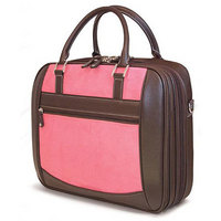 "16"" ScanFast Element Checkpoint Friendly Briefcase (Pink Suede)"