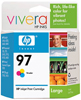No. 97 Tri-color Inkjet Print Cartridge with Vivera Ink
