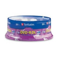 Verbatim 8.5 GB 2.4X Dual-Layer DVD+R 20-Disc Spindle