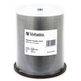 Verbatim 52x CD-R White Printable Media 100 Pack