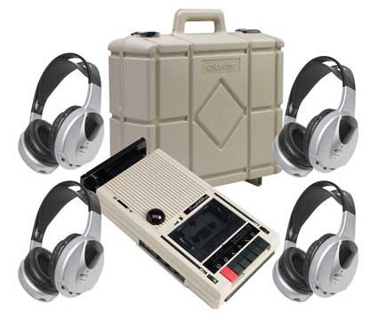 Califone 3432IR-PLC 4-Person Wireless Cassette/Recorder Player PLC