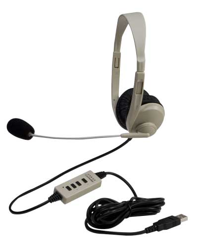 Califone 3064-USB Multimedia Stereo USB Headsets