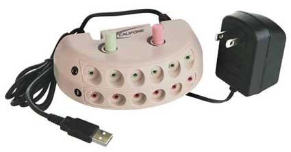 Califone 1216USB 6-Position USB Jackbox