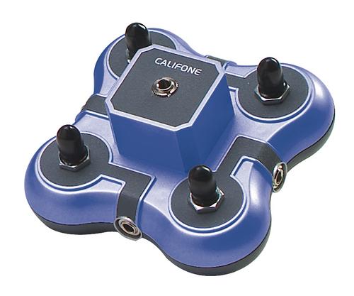 Califone 1114BL 4-Position Mini Stereo Jackboxes (Blue)