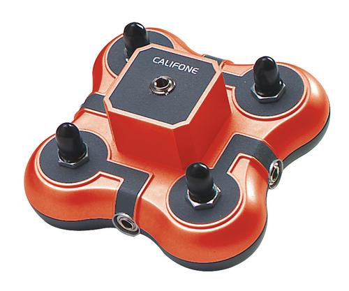 Califone 1114AVPS 4-Position Mini Stereo Jackboxes (Red)