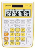 Casio MS10VC Basic Calculator (Yellow)