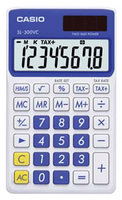 Casio SL-300VC Basic Calculator (Blue)