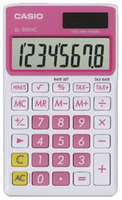 Casio SL-300VC Basic Calculator (Pink)