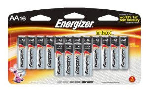 Energizer Max AA Alkaline Batteries (16 Pack)