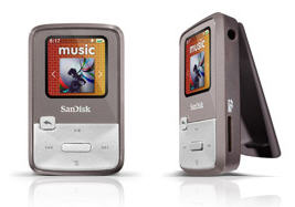4GB Sansa Clip Zip MP3 Player (Grey)