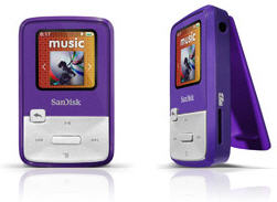 4GB Sansa Clip Zip MP3 Player (Purple)