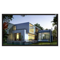 """110"""" Diag. (54x96) Fixed Frame Projector Screen, HDTV Format, Matte White Fabric"""