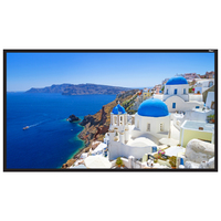"""150"""" Diag. (74x131) Fixed Frame Projector Screen, HDTV Format, Matte White Fabric"""