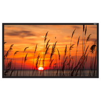 """120"""" Diag. (59x105) Fixed Frame Projector Screen, HDTV Format, Matte White Fabric"""