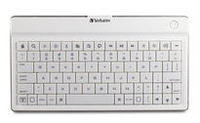 Ultra-Slim Bluetooth Wireless Mobile Keyboard (White)