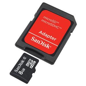 8GB MicroSD High Capacity (MicroSDHC) Flash Card