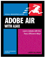 AIR (Adobe Integrated Runtime) is Adobe?s open source technology that lets Web developers and programmers create Rich Internet Applications that run outside of any Web browser. This Visual QuickPro Guide teaches everything you need to know to begin creating applications that combine the rich experience of a traditional desktop application with the power and reach of the Internet. The book uses a visual, step by step approach and covers all the fundamental AIR concepts, without the fluff, confusing segues, and technical jargon that bog down so many other computer books. Author Larry Ullman has a well earned reputation for writing books that are accessible, easy to follow, and, above all, useful. This book focuses solely on developing AIR app