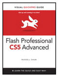 Adobe Flash Professional CS5 is the leading software for Web designers creating dynamic Web sites. Adobe Flash Professional CS5 Advanced for Windows and Macintosh: Visual QuickPro Guide offers the most efficient way for smart, creative, busy professionals to learn advanced Flash features. Taking the highly accessible instructional format of the popular Visual QuickStart Guides to a more advanced level, this handy guide combines a visual approach with straightforward, step by step instructions and screenshots and concise explanations. It emphasizes methodology and problem solving with five primary sections: animation, ActionScript, navigation, dynamic graphics and sound, and control of information, and teaches all the new features of Flash C