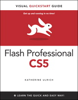 Flash Professional CS5 is such a powerful program that it can seem overwhelming to new or occasional users. With Flash Professional CS5 Visual QuickStart Guide, readers get a solid grounding in the fundamentals of the most recent version of the software. Highlights include working with new style text in the text layout framework (practically a mini page layout program inside Flash), working with the new Color panel and other updated interface features, a look at the deco tool's expanded pattern set, plus creating ActionScript using Flash's improved automatic code completion features and code snippets.