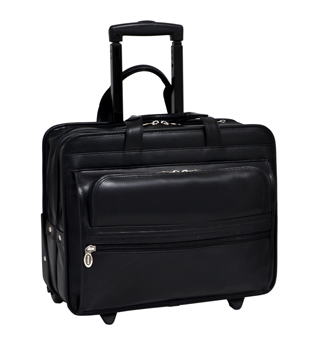 "17"" Chatham Wheeled Double Compartment Laptop Case"