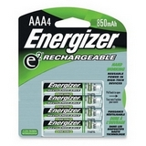 Rechargeable NiMH Batteries AAA 4 Pk