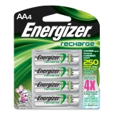 Rechargeable NiMH Batteries AA 4 Pk