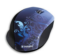 Wireless Optical Design Mouse (Blue)