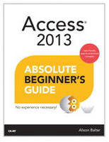 Access 2013 Absolute Beginner's Guide Book