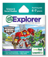Explorer Game Cartridge: Transformers Rescue Bots: Race to the Rescue