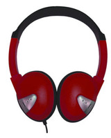 Lightweight On-Ear Headphones (Red)