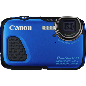 Powershot D30 Compact Digital Camera 12.1 Megapixel (Blue)