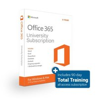 Office 365 University 4 Year Subscription Download with Total Training Online: All Access 90 day Subscription