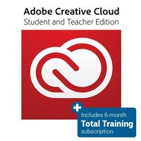 Creative Cloud Student and Teacher Edition (One Year Subscription) with Total Training for Adobe CS/CC (6 Month Subscription)
