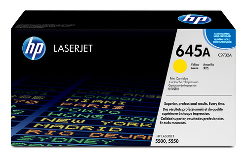 645A Original LaserJet Toner Cartridge (Yellow)