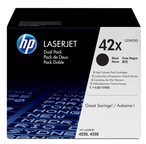 42X High Yield Original LaserJet Toner Cartridge (2 Pack) (Black)