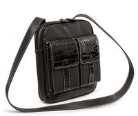Crossbody Tech Organzier Bag Vegan Leather (Black)