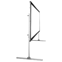 """180"""" Diag. (108x144) Folding Frame Screen with Case, Video Format, Matte White Fabric"""