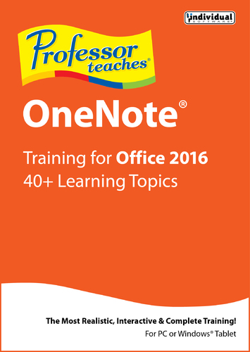 Professor Teaches OneNote for Office 2016 (Home Edition) (Electronic Software Delivery)