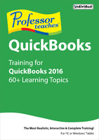 Professor Teaches QuickBooks 2016 (Home Edition) (Electronic Software Delivery)