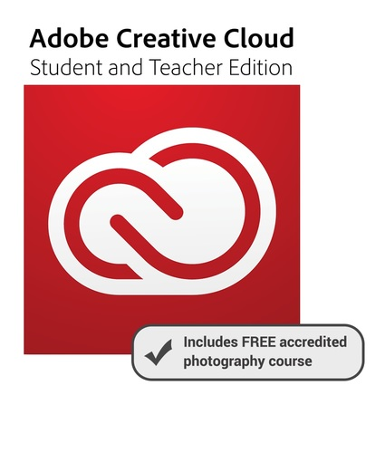 Creative Cloud Student and Teacher Edition (One Year Subscription - Annual Price) with Free Digital Photography 101 Online Course