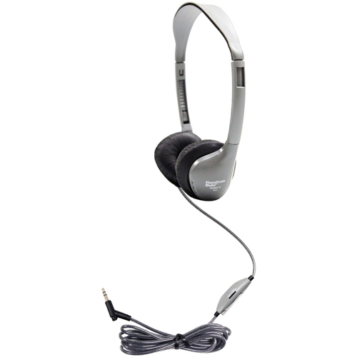 SchoolMate On-Ear Stereo Headphone with Leatherette Cushions and in-line Volume