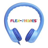 Flex-Phones, Foam Headphones, Blue
