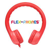Flex-Phones, Foam Headphones, Red