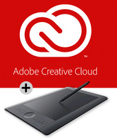 Creative Cloud Student and Teacher Edition (One Year Subscription) with Intuos Pro Pen & Touch Tablet Medium